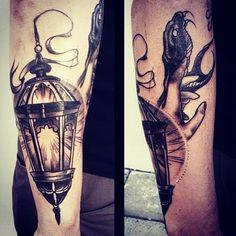 wainktattoo: #lantern #tattoo by Pari Corbitt @pari_corbitt (at...