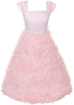 Satin Bodice Full Rosette Skirt Communion Flower Girl Pageant Dress - Pink 2 Dempsey Marie http://www.amazon.com/dp/B00IKUH9GK/ref=cm_sw_r_pi_dp_FaL5tb0ME7FF9