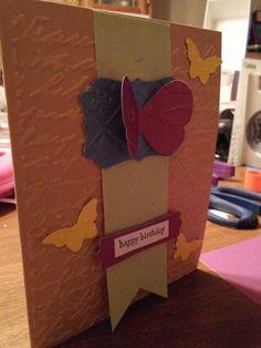 Sheryl's Crafting Corner: Butterfly banner birthday card
