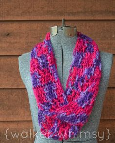 Violaceous Infinity Scarf Crochet Pattern