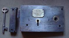 Victorian Steel Cased Lockable Rim Latch by Hobbs & Co.