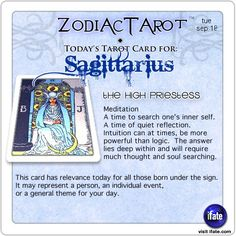Daily tarot card for Sagittarius from ZodiacTarot! Were you born on a full moon?  On a new moon?  Find out what phase the moon was in when you were born.  Visit iFate.com today! And for all today's ZodiacTarot cards, check out ZodiacTarot.com !