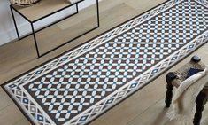 Utopia tapis de couloir carreaux de ciment 67x180 cm noir Tapis carreaux de ciment pas cher
