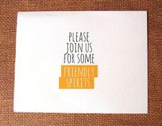 """Please join us for some friendly spirits"" Printable DIY Halloween Invitation. $5.00, via Etsy."