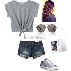 Summer Outfit by gretchieeee on Polyvore featuring polyvore, fashion, style, rag & bone/JEAN, Converse and Lipsy