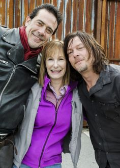 Norman Reedus, Jeffrey Dean Morgan and Gale Anne Hurd behind the scenes of The Walking Dead Season 7 Episode 16 | The First Day of the Rest of Your Life