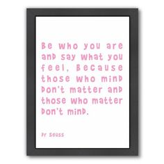East Urban Home 'Dr Seuss Quote Pink' by Indigo Sage Framed Textual Art