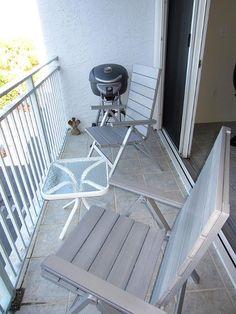 "Balcony with electric grill - Key West Top Floor Condo ""Seaside Breeze"" -Monthly -  - rentals"