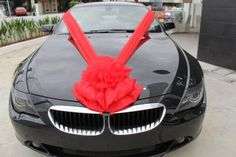 Red Bouquet Car Decoration  ~ By: Elegant Scent http://www.wedding.com.my/category-florist-and-decorations/7