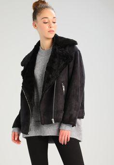 Weekday NORA - Faux leather jacket - black - Zalando.co.uk