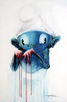 guilty smurf by alex pardee