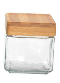 $45.00 for 4 on Amazon.com: Anchor Hocking Stackable Jars with Bamboo Lid, 1-Quart, Set of 4: Food Savers: Kitchen & Dining
