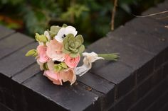 Felt Flower Bouquet - Alternative Bouquet - Bridal Keepsake Bouquet by Florologie on Etsy