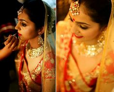 Red and yellow bride