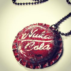 I love #fallout so I made myself a #nukacola #bottlecap necklace! I'm enjoying making things at the moment next project is a #tankgirl style hat  #geek #craft  #cosplay #cosplaygirl #cosplayprops #nuka