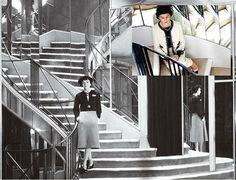 Escada da Maison Chanel em Paris. www.conexaodecor.com