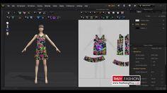 Thay mẫu vải trên phần mềm thiết kế thời trang 3D