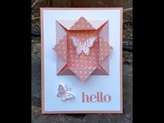 "Easy ""folded window frame"" for your card! - YouTube"