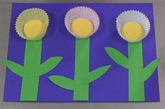 Cupcake Liner Flowers-We are making this simple art project today.