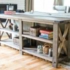 Ana White | Rustic X Console - DIY Projects