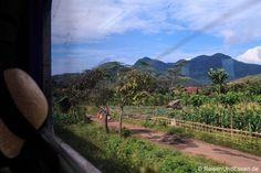 Vorbeiziehende Landschaft bei der Zugfahrt mit Argo Wilis von #Bandung nach #Yogyakarta