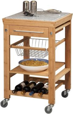 exklusiver k chenwagen aus holz arbeitsplatte aus metall k che haushalt for. Black Bedroom Furniture Sets. Home Design Ideas