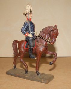Antiker Masse Soldat 10,5cm Elastolin Dragoner Offizier Vintage Toy Soldier | eBay