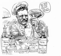 Teddy Roosevelt cartoon: Chemist - Progressive Party (United States, 1912) - Wikipedia, the free encyclopedia