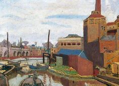From a Canal Bridge, Chalk Farm Road - Spencer Gore, 1913 @York Art Gallery