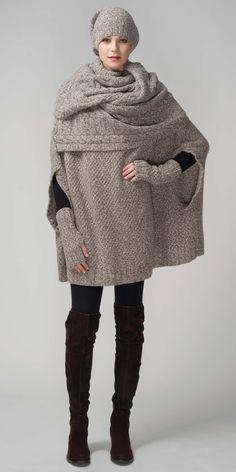 Fall Winter 2012 RTW   HANIA by Anya Cole Veste Femme Tricot, Foulard, f73c1c251d9