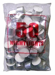 GAMA 8 hours Tealights - Bag of 50