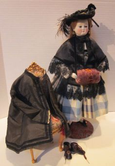 Evangeline A Fashion Doll C 1865 with Her Extensive Wardrobe and Accessories | eBay