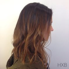 balayage highlights :: mid length cut :: brunette :: hairxbrittany