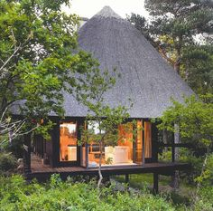 Erik Korshagen, Own Summer House - 1960 Scandinavian Architecture, Architecture Design, Beautiful Hotels, Beautiful Space, Black House Exterior, Island Resort, New Homes, House Design, Vacation