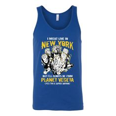 Super Saiyan I May Live in New York Group Unisex Tank Top T Shirt - TL00062TT