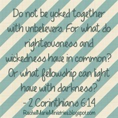 Rachel Marie Ministries: Do Not Be Unequally Yoked: Wait on God