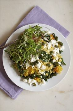 Quinoa Salad with Golden Beets, Kale, Feta and Pistachios by Justine ...