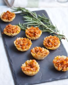 #Thanksgiving Appetizer: Baked Brie and Sweet Potato Bites from @Cara K / Big Girls, Small Kitchen