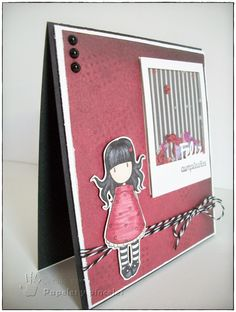 Shaker Card Scrapbooking Gorjuss