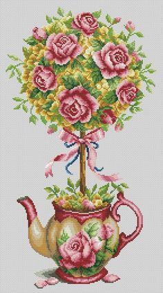 """Сачать схему вышивки """"The Rose Pot"""""""