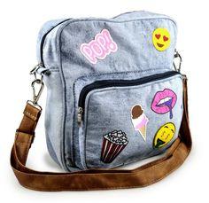 ef6cc21eb Bolsa Jeans Com patches Emotion Mochila Jeans Feminina, Bolsa De Escola  Feminina, Carteira Masculina