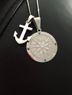 """""""I gave you direction when you were lost. You were something solid for me to hold onto"""" Ty & Zane ❤  My compass and anchor necklace"""