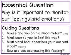 Teaching About Mood and Feelings with a Mood Meter Learning Targets, Essential Questions, Social Emotional Learning, Feelings And Emotions, Morning Messages, Current Mood, Teaching Tips, Classroom Management, About Me Blog