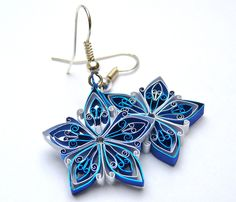 Quilled earrings by Victoria Brewer