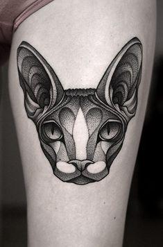 rebirth tattoo new beginnings life ~ rebirth tattoo new beginnings Blackwork, Tattoo Now, Tattoo Life, Black Cat Tattoos, Animal Tattoos, Head Tattoos, Sleeve Tattoos, Rebirth Tattoo, Sphynx Cat Tattoo