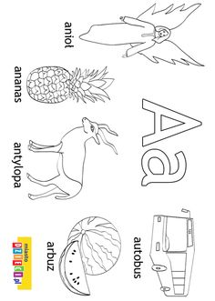 Alfabet - kolorowanki dla dzieci Activities For Kids, Crafts For Kids, Polish Language, Alphabet Coloring Pages, Little Monsters, Letters And Numbers, Montessori, Christmas Crafts, Printables