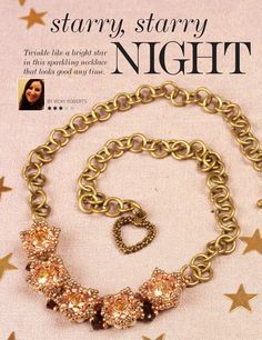 Starry, Starry Night necklace by Vicky Roberts   Issue #69, Bead & Jewellery Magazine