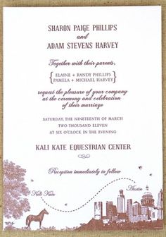 Awesome Equestrian invites