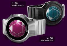 Tokyoflash Kisai Polygon Wood LCD Watch