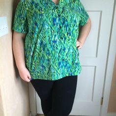 Spotted while shopping on Poshmark: Green blouse! #poshmark #fashion #shopping…
